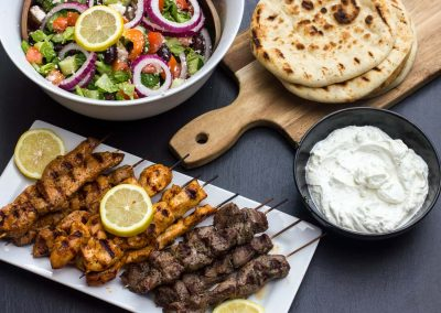 Grilled-Greek-Souvlaki-Lamb-Chicken-Pork-overhead-wide-hires